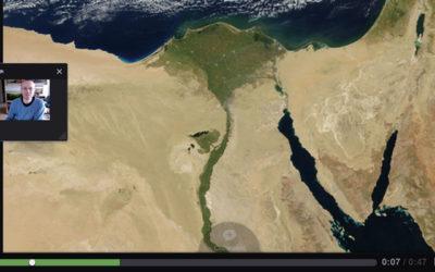 Vand i Egypten fremlagt med VoiceThread