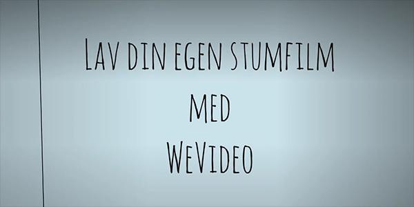 Stumfilm med WeVideo