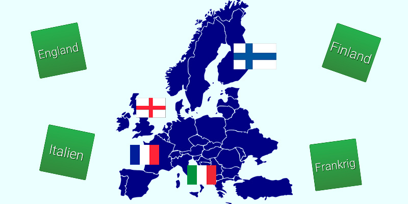 Fakta om Europa med h5p