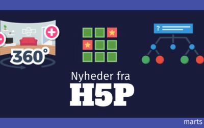 Tre store nyheder i værktøjskassen fra H5P
