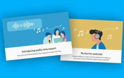 Lav podcasts og lydfortællinger med Wevideo
